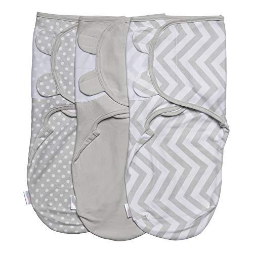 Juicy Bumbles Baby Pucksack Wickel-Decke - 3er Pack...