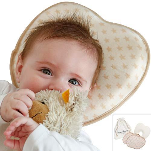 Babykissen gegen Plattkopf aus BIO-BAUMWOLLE von Minky Mooh...