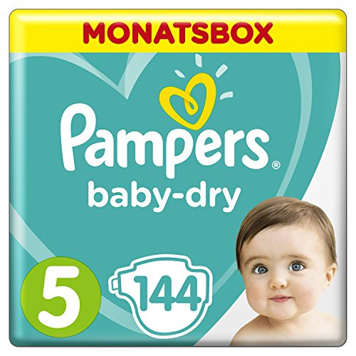 Pampers Baby-Dry Windeln, Gr. 5, 11-16 kg, Monatsbox, 1er...