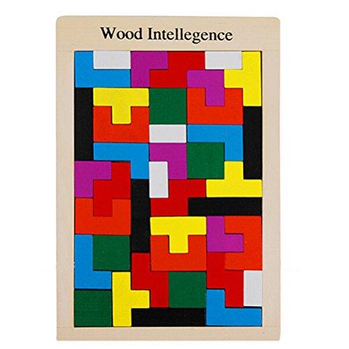 NUOLUX Holzpuzzle Spielzeug Puzzle Gehirn necken Holz Burr...