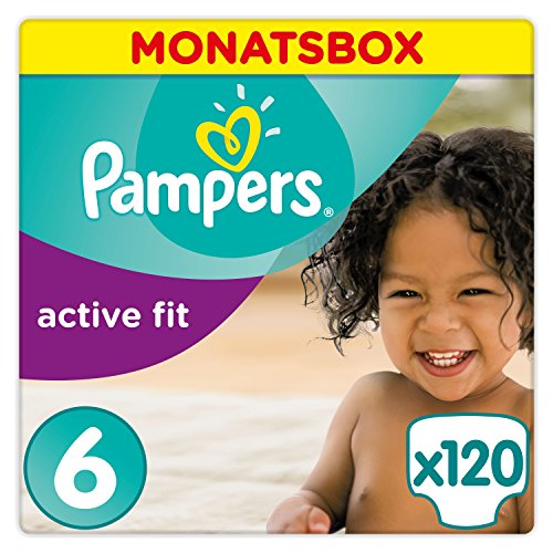 Pampers Active Fit Windeln, Gr.6, Extra Large 15+kg,...