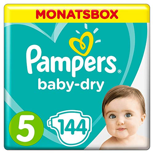 Pampers Baby-Dry Windeln, Gr. 5, 11kg-16kg, Monatsbox (1 x...