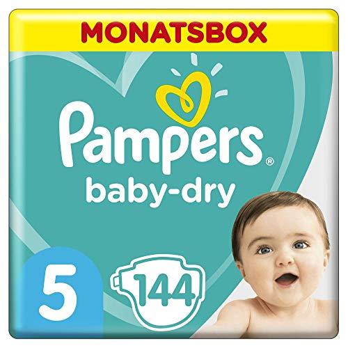 Pampers Baby-Dry Windeln, Gr. 5, 11kg-16kg, Monatsbox (1 x...