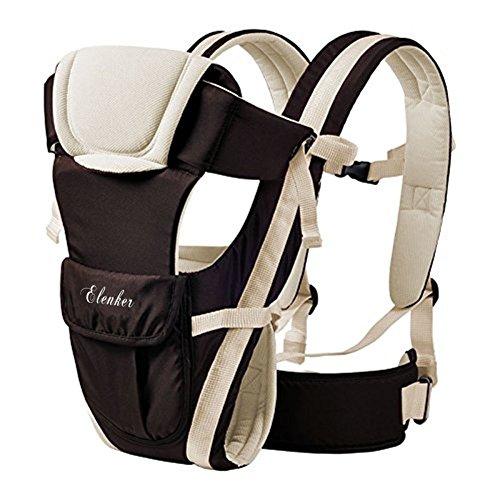 ELENKER Babytrage, Bauch-, Rücken- und Hüfttrage, 4...