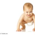 Baby-auf-allen-Vieren