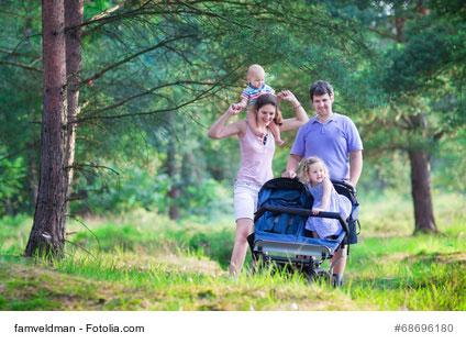 Spaziergang nach der Geburt